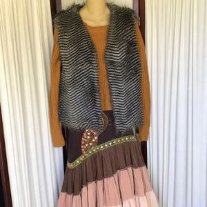 Wenxi faux fur vest Sz XXL New!